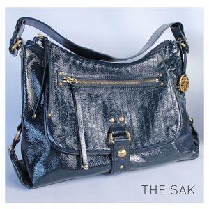 The Sak Handbags - THE SAK Navy Blue Patent Leather Purse