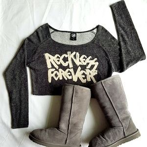 Young & Reckless Tops - 🎁SALE🎁Young and Reckless Crop Sweatshirt