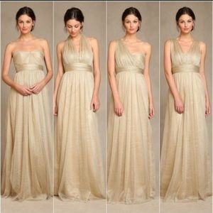 Jenny Yoo Dresses & Skirts - Jenny Yoo Gold Annabelle Convertible Dress