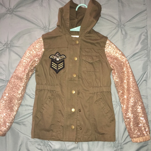 6437233eab722 annie Jackets   Blazers - Annie for Target girls military glitter jacket ...