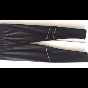 Necessary Clothing Pants - Zimu Black zipper detail leggings