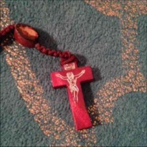 Jewelry - BRAND NEW Cherrywood Red Wooden Rosary