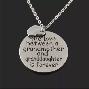 Jewelry - Grandmother granddaughter silver pendant necklace