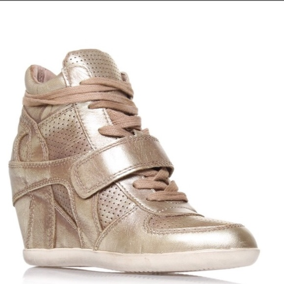 Ash Shoes - Ash Limited Edition Wedge Sneaker (Gold)