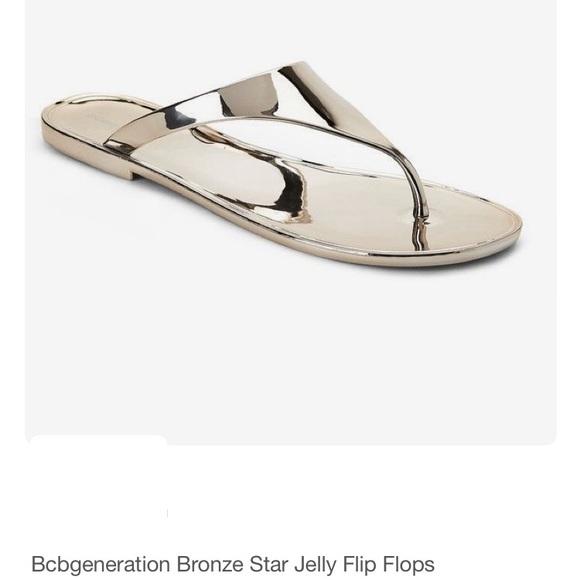 c488ac35bab5 BCBGeneration Shoes - BCBGEneration Bronze Star Jelly Flip Flops