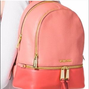 5a6daf4095d68b Michael Kors Bags - Michael Kors Rhea Medium Leather Backpack