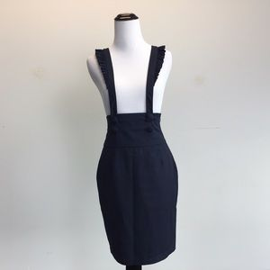 Lux Dresses & Skirts - Navy Blue LUX Skirt with Suspenders