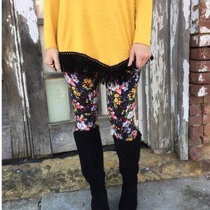 HP 5/3/17!Floral Knit Leggings!