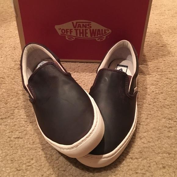484c7864aa79 Vans slip on Leather Cup CA sneakers