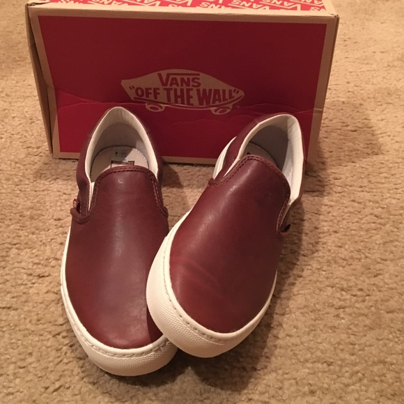 51f7f24896 Vans Leather Slip on Cup CA sneakers