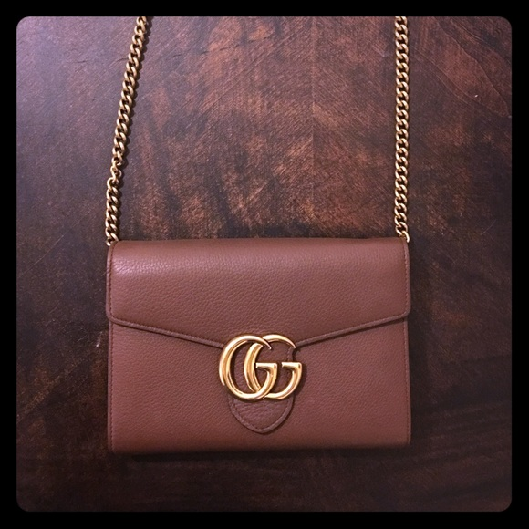 3ebceb6cedd2 Gucci Handbags - Gucci GG Marmont leather mini chain bag