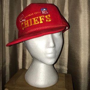 d1abfd952d5 Vintage Accessories - Vintage Corduroy Kansas City Chiefs Hat Flat Bill