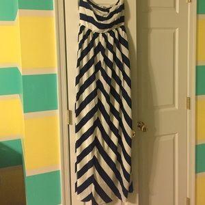 Lulus striped maxi dress