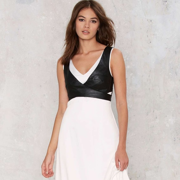 f2b96e2a534 Nasty Gal White Maxi Dress with Harness