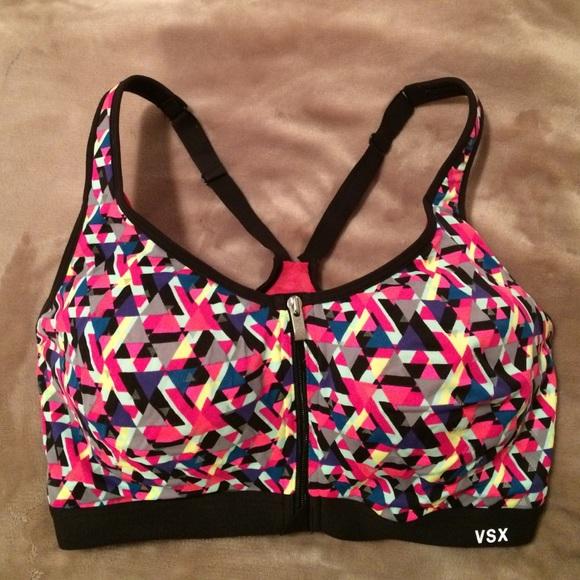 1248ed2a3b 34DD VSX front closure sports bra. M 584b627af092822ebe01c999