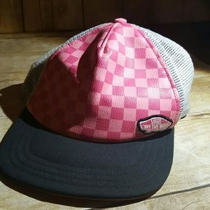 Vans Other - Authentic Pink Checkered Vans Snapback Cap OSFM