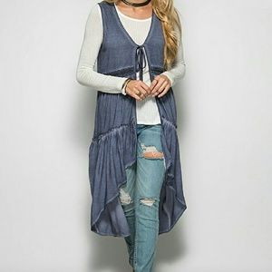 She and Sky Other - Duster  vest