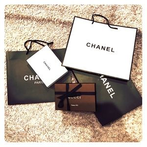 Chanel bags, wallet size boxes Gucci & Chanel
