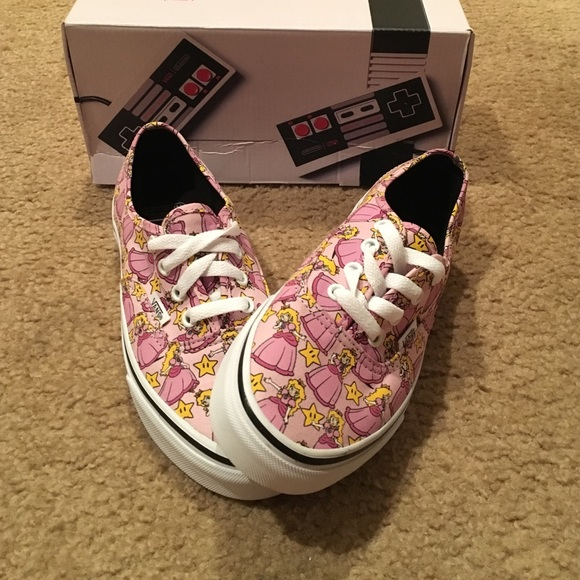 vans princess peach shoes