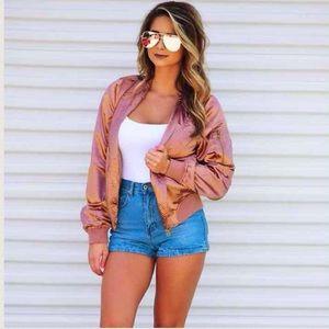 Jackets & Blazers - Rose Gold bomber jacket