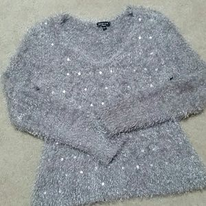 Spense Sweaters - NWOT Spence Fluffy Lilac/Gray Sweater