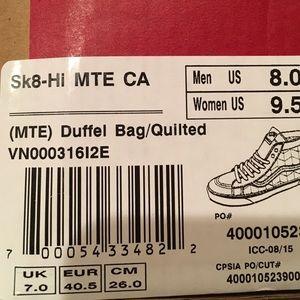 c0173089c44477 Vans Shoes - Authentic Vans Sk8 Hi MTE CA shoes VN000316I2E