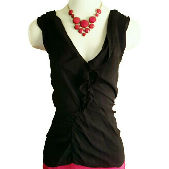 Sleeveless ruffled blouse Prada