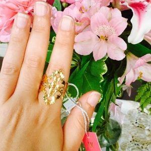Barneys New York Jewelry - Laser cut Swarovski gold ring