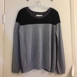 {Aiko} Sparkle Open Back Sweater Size M