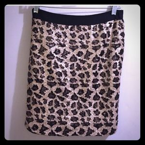 Banana Republic Dresses & Skirts - leopard print sequin mini skirt