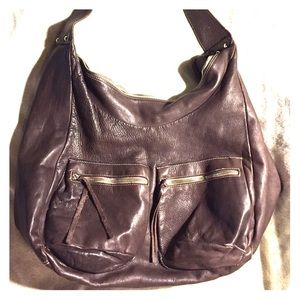 👜FURLA LARGE BROWN LEATHER HOBO👜