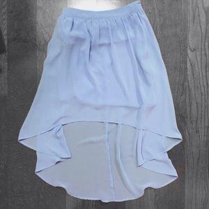 Forever 21 Light Blue High Low Skirt   Size S
