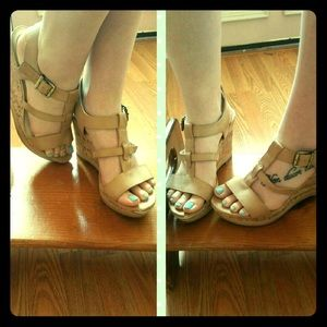 Studio Paolo Shoes - Nude wedges