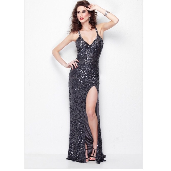 abebad30 Primavera Couture Dresses | Long Sequin Prom Dress | Poshmark