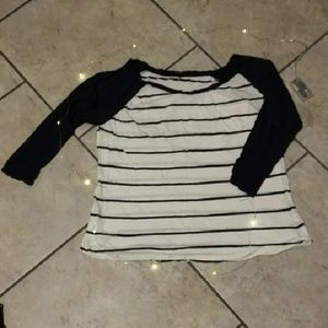 Boohoo Plus Tops - Adorable Striped Raglan Tee
