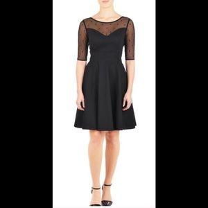 eshakti Dresses & Skirts - New Eshakti Black Polka Dot Fit & Flare Dress 16W