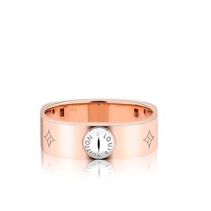 Louis Vuitton Nanogram ring in Pink Gold rose gold