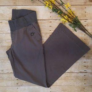 GAP Pants - GAP Grey Demi Panel Maternity Pants