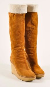 """Bamboo Shoes - """"2HR Sale"""" Suede Wedge Boots"""