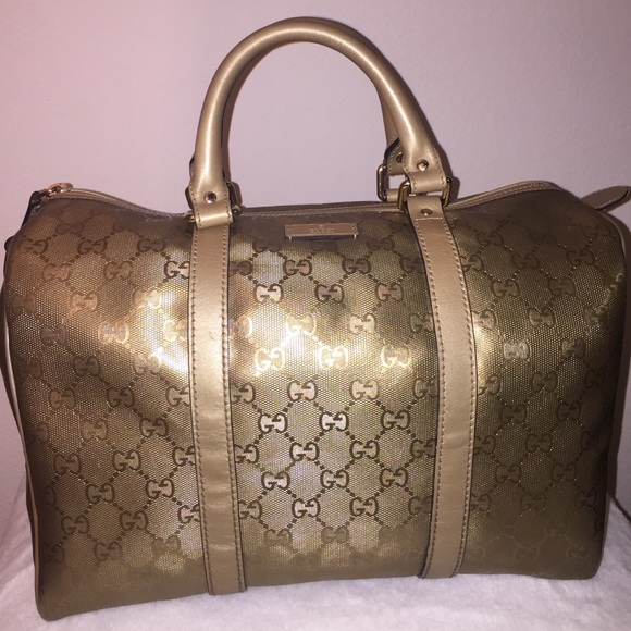 b8ab975f6 Gucci Handbags - GUCCI ✨ METALLIC GOLD SPEEDY BAG ✨