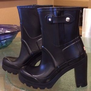 7dbb4e9d1 Hunter Shoes | 110mm High Heel Rubber Boots | Poshmark