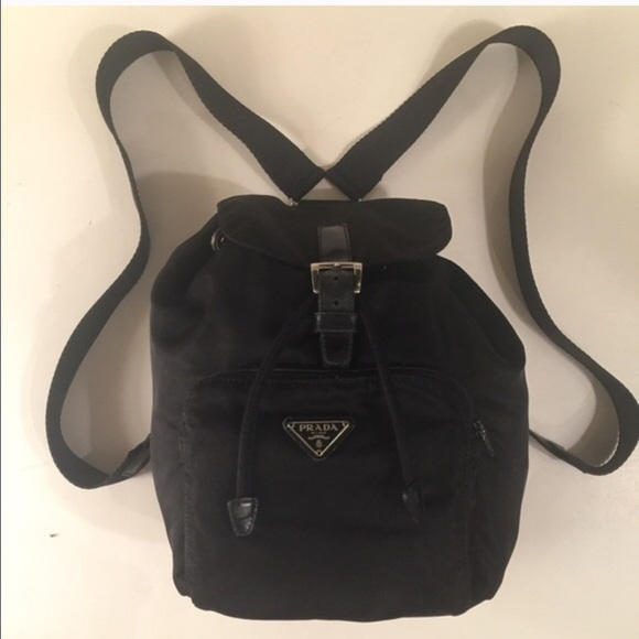 Prada Bags   Authentic Black Leather And Nylon Backpack   Poshmark 292a28d315