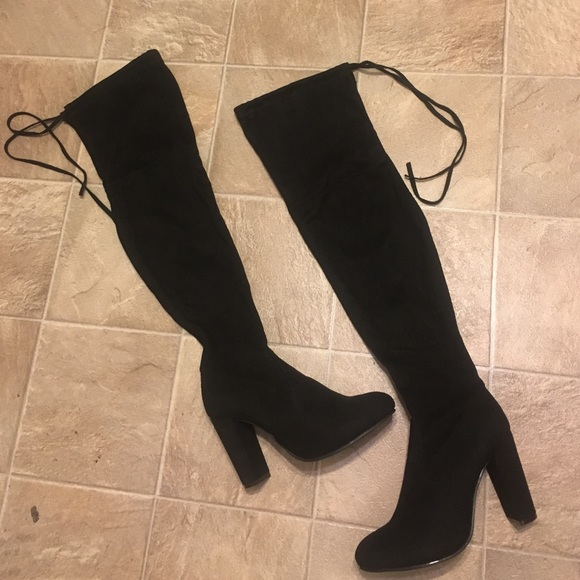 Boohoo Shoes | Thigh High Boots | Poshmark