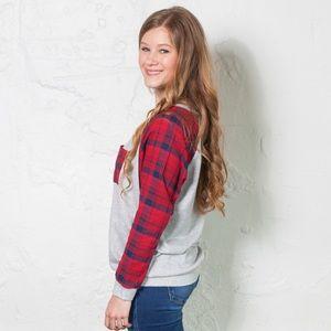 8541113aee3 Sweaters - Torri Plaid Sweater