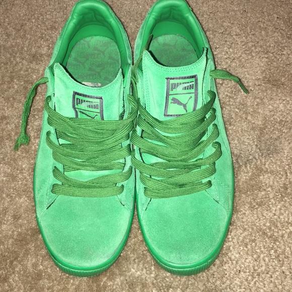 Puma Shoes   Mens Green Suede Pumas 15