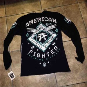 Affliction Other - NWT MENS AMERICAN FIGHTER LONG SLEEVE SHIRT SIZE L