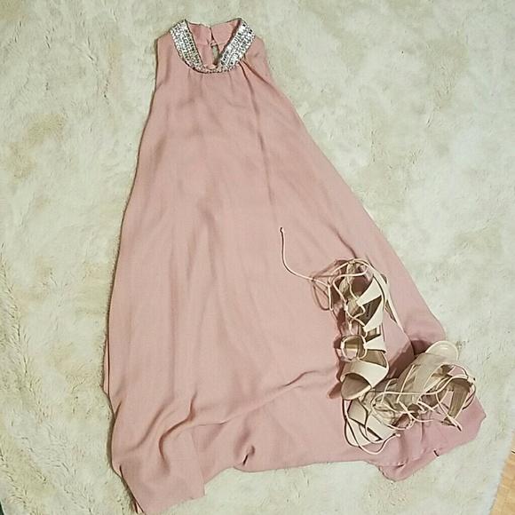 f65aca8cf1db Bedazzled sleeveless dress