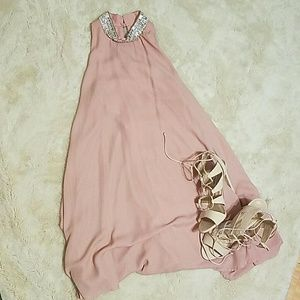 Bedazzled sleeveless dress