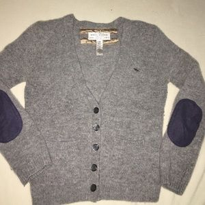 A&F 3/4 sleeve cardigan with suede elbow patches.