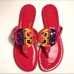 9a6e4596916d Tory Burch Shoes - NEW Tory Burch Miller Rainbow Logo Flat Sandals
